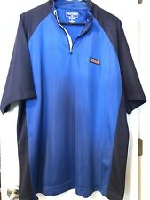 NEW! Vintage POLO SPORT RALPH LAUREN Size XL Shirt BLUE Mesh Zip Athletic NWT