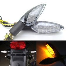 2x Motorcycle Turn Signals 12V Blinker Indicator LED Lights Motorbike Amber 10mm