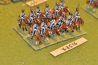25mm napoleonic / prussian - lancers 12 figures - cav (43516)