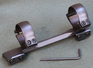 CZ550 1 piece rifle scope mounts, 30mm rings and base, STEEL MATTE.