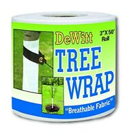 Tree Wrap White 3-Inch 50-Foot Twist Ties Breathable Non Girdling Wrap New