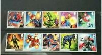 GB 2019 Marvel Comics issue FULL SET OF 10 Stamps Mint Condition