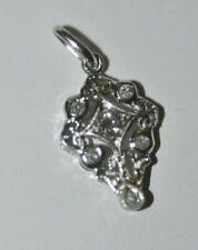 Stunning unique platinum .25 ct Art Deco diamond pendant.