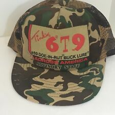 Tink's #69 Buck Lure Camouflage Strapback Mesh Back Truckers Cap Hat USA Made