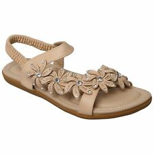 WOMENS LADIES SUMMER SANDALS GIRLS LOW HEEL SLING BACK BEACH SHOES NEW SIZE 3-8