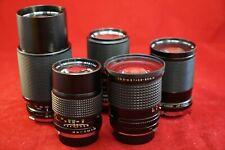 Lot Of 5 Olympus OM SYSTEM Prime Camera Lenses Vivitar/CPC/ JC Penny - Working