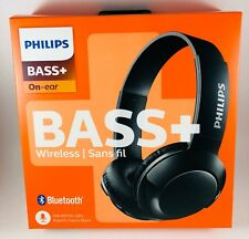Philips SHB3075BK/27 BASS+ Wireless Bluetooth OnThe-Ear Headphones with Mic