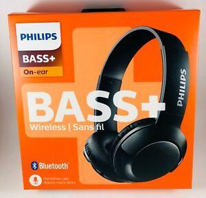 Philips SHB3075BK/27 BASS+ Wireless Bluetooth OnThe-Ear Headphones with Mic