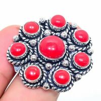 Red Coral Handmade Ethnic Style Jewelry Ring Size Adj. R-VJ-7403