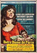 HUNCHBACK OF NOTRE DAME DE PARIS Spanish movie poster GINA LOLLOBRIGIDA QUINN