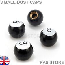 8 BALL Pool Valve Dust Caps Bike Car Van Toyota Mazda BMW Mini Ford Vauxhall UK
