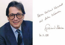 "Austria Ferdinand Lacina 1942- genuine autograph 4""x6"" photo verso signed"