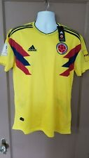 adidas Colombia Men's Jersey Football Soccer FIFA World Cup 2018 Yellow Size L