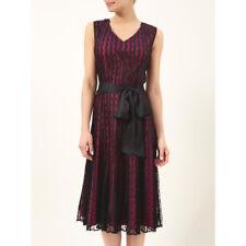 Nuevo Vestido de Jacques Vert 14 16 18 20 Negro Encaje De Malla Cóctel manchado RP £ 199
