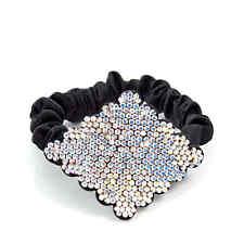 Swarovski crystal diamond-shape hair tie / women's hair accessory/ gift idea