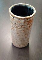 Rare grand vase rouleau Accolay signé état parfait grès émaillé
