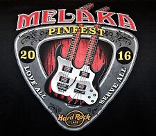 HARD ROCK CAFE MELAKA PINFEST BLACK T-SHIRT SIZE ADULT XX-LARGE NEW WITH TAGS