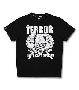 "SHIRT 100% HARDCORE ""TERROR DEATH CANT´T STOP US"" GABBER TERROR GABBA NEU"