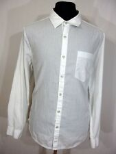 7FAMK 7 For All Mankind Mens XL white button down front l/s pocket classic V8