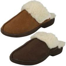 Zapatillas de andar textil de color principal marrón por casa de mujer