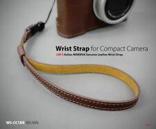 Lim's Genuine Leather Camera Wrist Strap for Leica SONY Nikon Fujifilm Brown