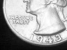 1943-S DDO Double Die Obverse Washington Quarter -- RARE Almost Uncirculated +++