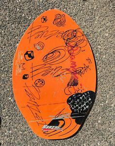 Retro Banzai Wood Skim Board Orange Vintage