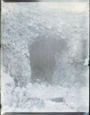 """Antique Vintage Glass Negative """"Mousehole Cave"""" Late 1800s 10.5cm x 8cm"""
