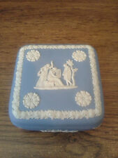"Vintage Wedgwood Jasperware Blue Square Dish 4"" England 1971"