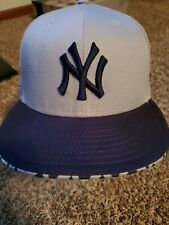 New Era New York Yankees Snapback Hat Grey / Black American League Cap Baseball