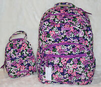 NWT! VERA BRADLEY Essential Large Backpack Lunch Bunch Bag Flower Garden