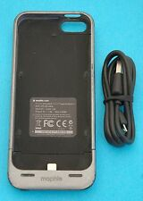 Dark Grey Mophie Juice Pack Helium iPhone 5/5s/SE Case 1500mAh Battery Charger C