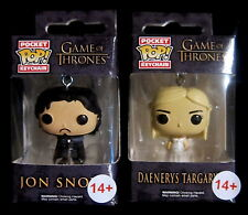 GAME OF THRONES Jon Snow + Daenerys Targaryen - Keychain Schlüsselanhänger Pop!