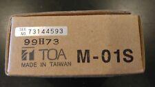 TOA M-01S BALANCED MICROPHONE INPUT MODULE NIB