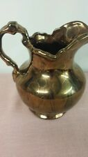 "6"" Gold Gilt Over Glass Pitcher"