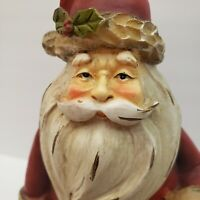 """TII Collections Resin Santa Claus Figurine w Lantern and List  C9502 11"""" READ"""