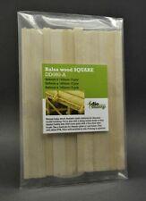 DioDump DD080-A Balsa Wood SQUARE sticks / beams - diorama building materials