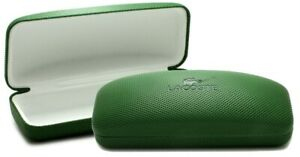 Genuine Replacement LACOSTE Green Glasses Designer Case with Sealed Cloth