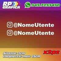 KIT 2 ADESIVI INSTAGRAM sticker USERNAME nome AUTO MOTO