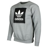 Adidas Originals Men's Trefoil Blackbird Logo Fleece Crew Neck Sweatshirt