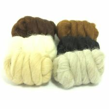 Heidifeathers Baby Alpaca Wool Fibres - in 6 Natural Shades - Felting + Spinning