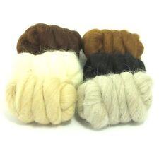 Heidifeathers BABY Alpaca fibre di lana - in 6 tonalità NATURALE-felting + filatura