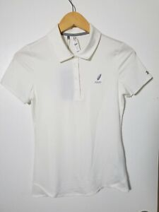 1 NWT UNDER ARMOUR WOMEN'S POLO, SIZE: X-SMALL, COLOR: WHITE (J149)