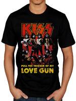 Official Kiss Love Gun Glow T-Shirt Hotter Than Hell Psycho Circus Revenge