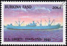 WWII 1941 US LIBERTY Classe Naval Cargo TIMBRE (1999 Burkina Faso)