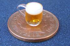 1:12 birra in una tazza di vetro in miniatura casa delle Bambole Accessorio Pub Bar Drink GLA39bB