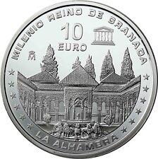 Spanien 10 Euro Silber 1000 Jahre Königreich Granada 2013 PP Palast Alhambra