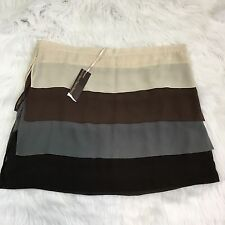 Anthropologie HAZEL Tiered Colorblock Mini Skirt Size M NWT