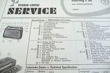 Service Manual-Anleitung für Schaub-Lorenz Touring T 30, 31580-31586