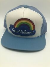 Young An New Orleans Rainbow Trucker Hat Snapback Mesh Patch Mardi Gras